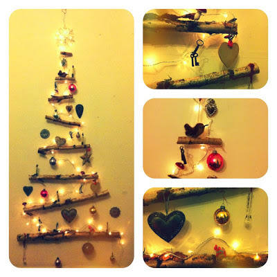 Homemade wooden Christmas tree decoration