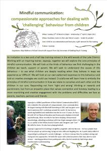 Challenging Behaviour from Children Course March 2015
